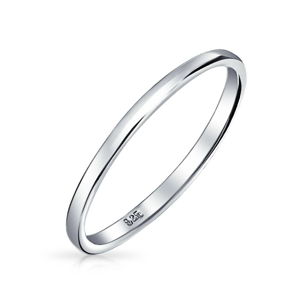 925 Sterling Silver Wedding Band Thumb Toe Ring 2Mm With Silver Wedding Bands (View 2 of 15)