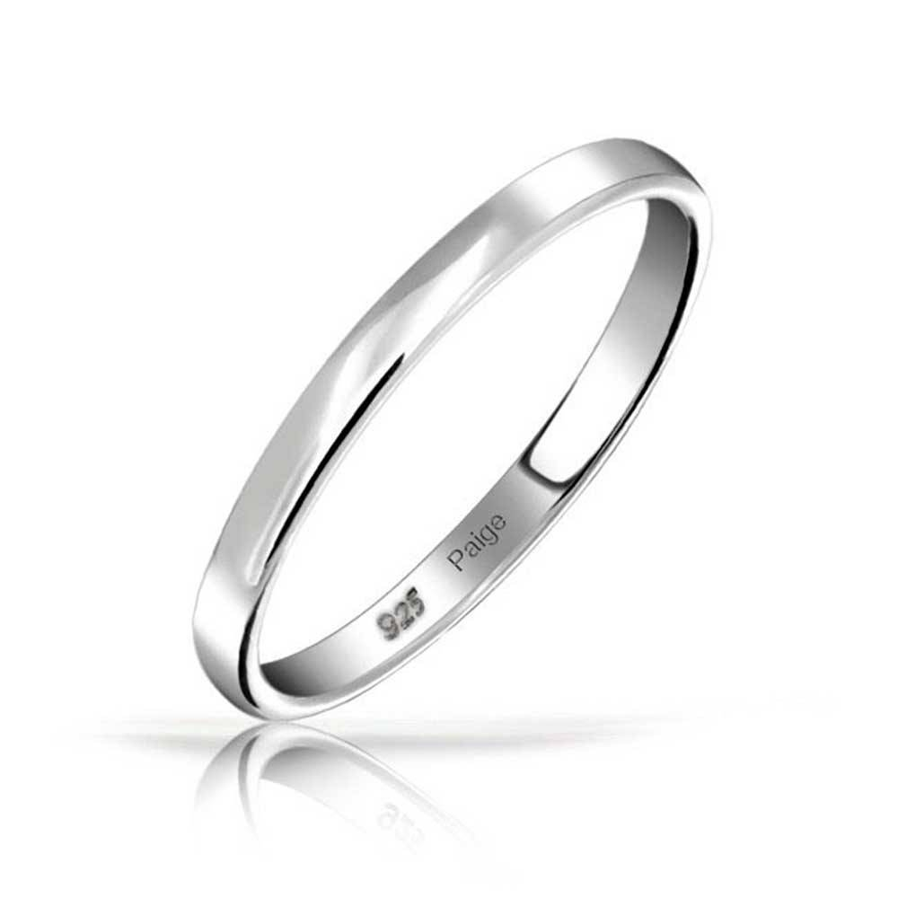 925 Sterling Silver Wedding Band Thumb Toe Ring 3mm With Womens Sterling Silver Wedding Bands (View 3 of 15)