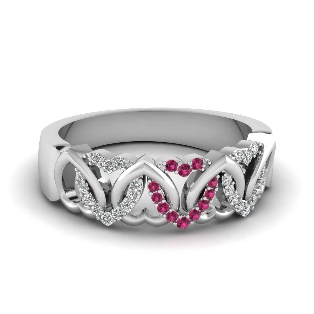 Affordable And Appealing Pink Sapphire Wedding Rings| Fascinating Intended For 2017 Pink Sapphire Diamond Wedding Bands (View 1 of 15)