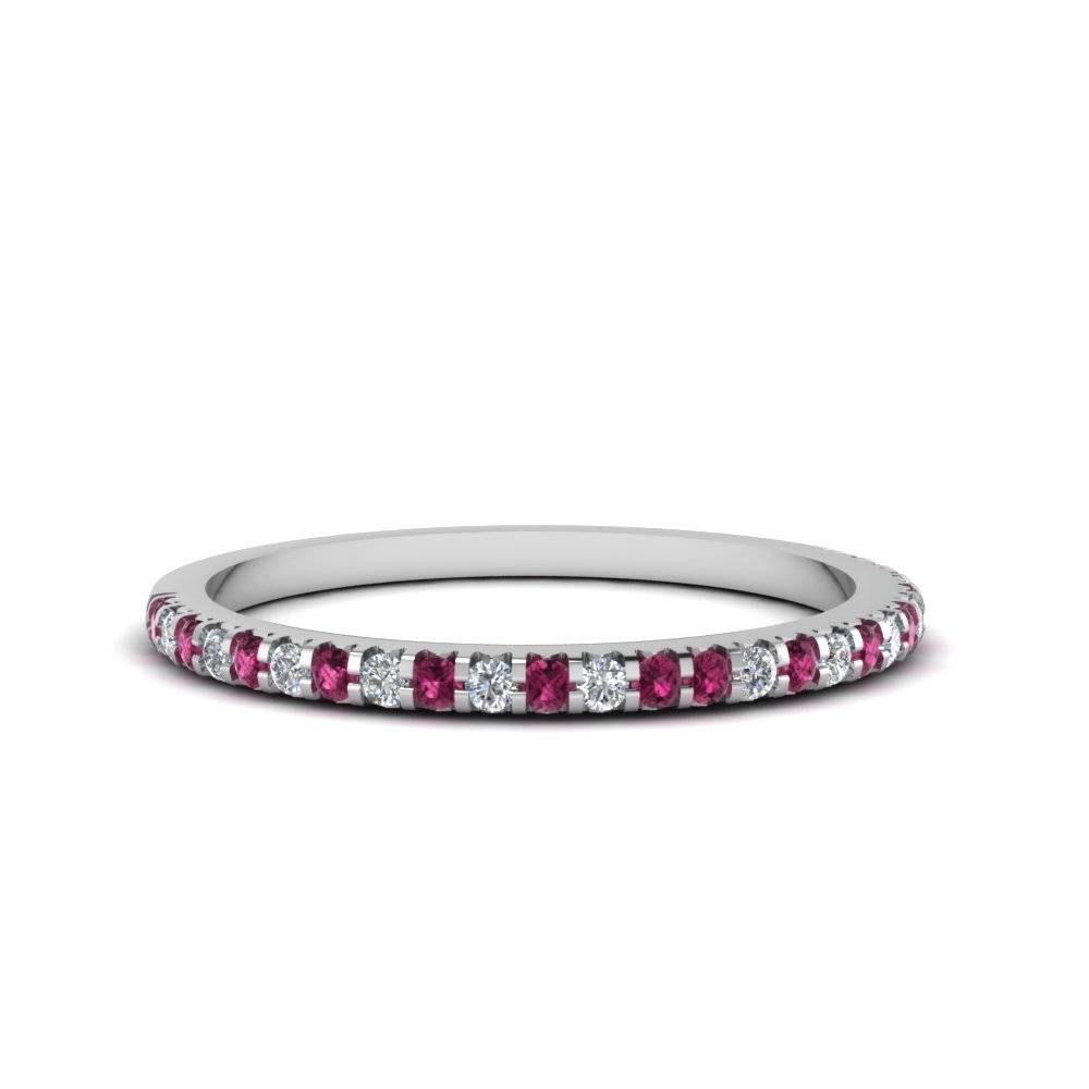 Affordable And Appealing Pink Sapphire Wedding Rings| Fascinating Throughout 2017 Pink Sapphire Diamond Wedding Bands (Gallery 5 of 15)