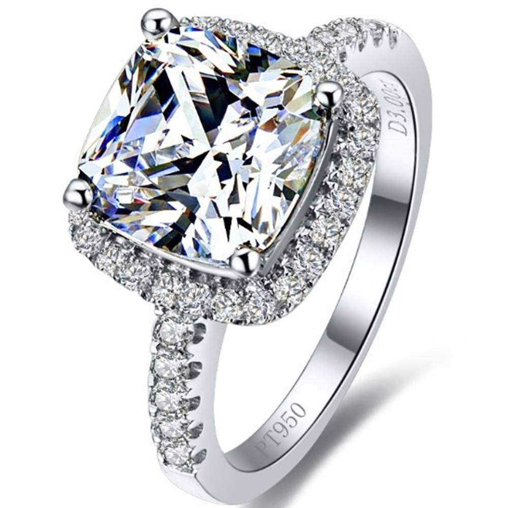 Aliexpress : Buy 1 Carat Fabulous Excellent Clear Cushion Cut With Regard To Vvs Engagement Rings (View 5 of 15)