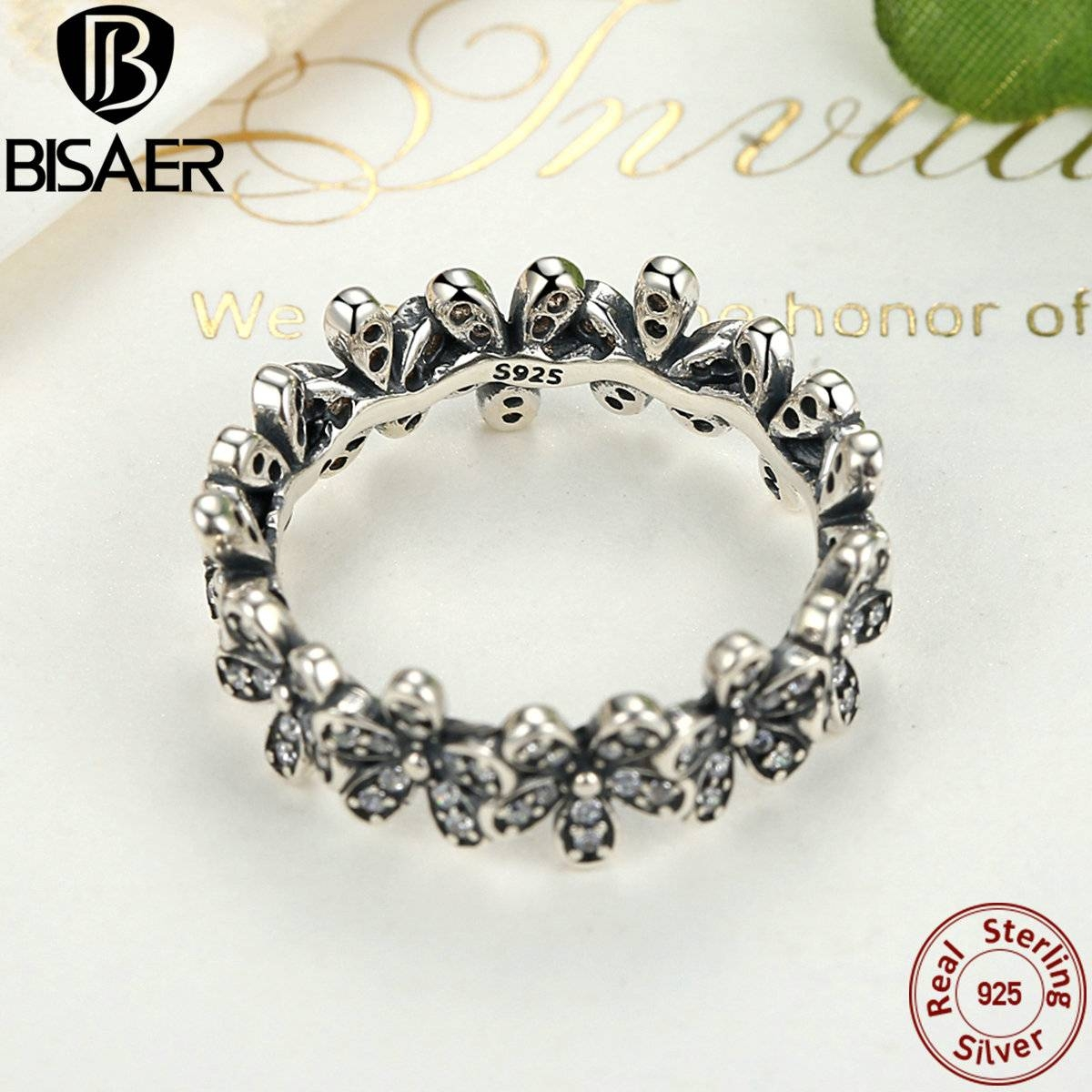 Aliexpress : Buy 925 Sterling Silver Dazzling Daisy Stackable For Most Recently Released Stackable Wedding Bands For Women (Gallery 15 of 15)