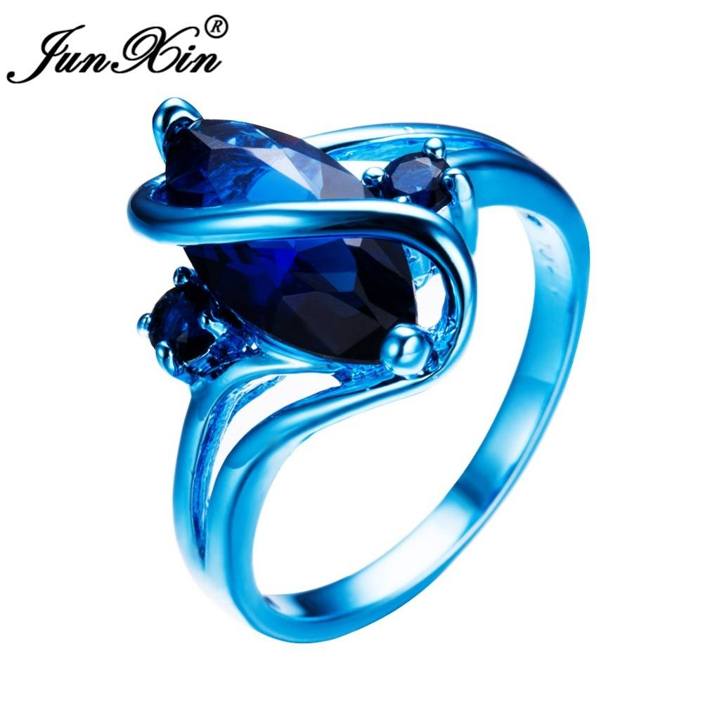 Aliexpress : Buy Junxin Unique Design Punk Male Female Party In Blue Wedding Bands For Men (View 9 of 15)