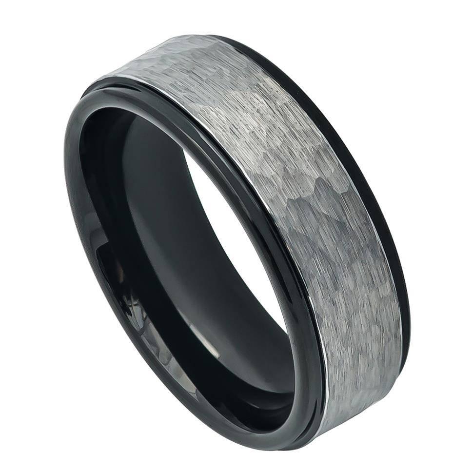 Amnon Tungsten Brushed Men's Tungsten Wedding Bandzeus Rings Regarding Tungsten Wedding Bands (Gallery 258 of 339)