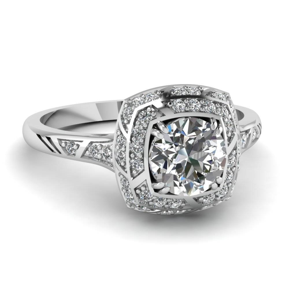 Featured Photo of Square Double Halo Engagement Rings
