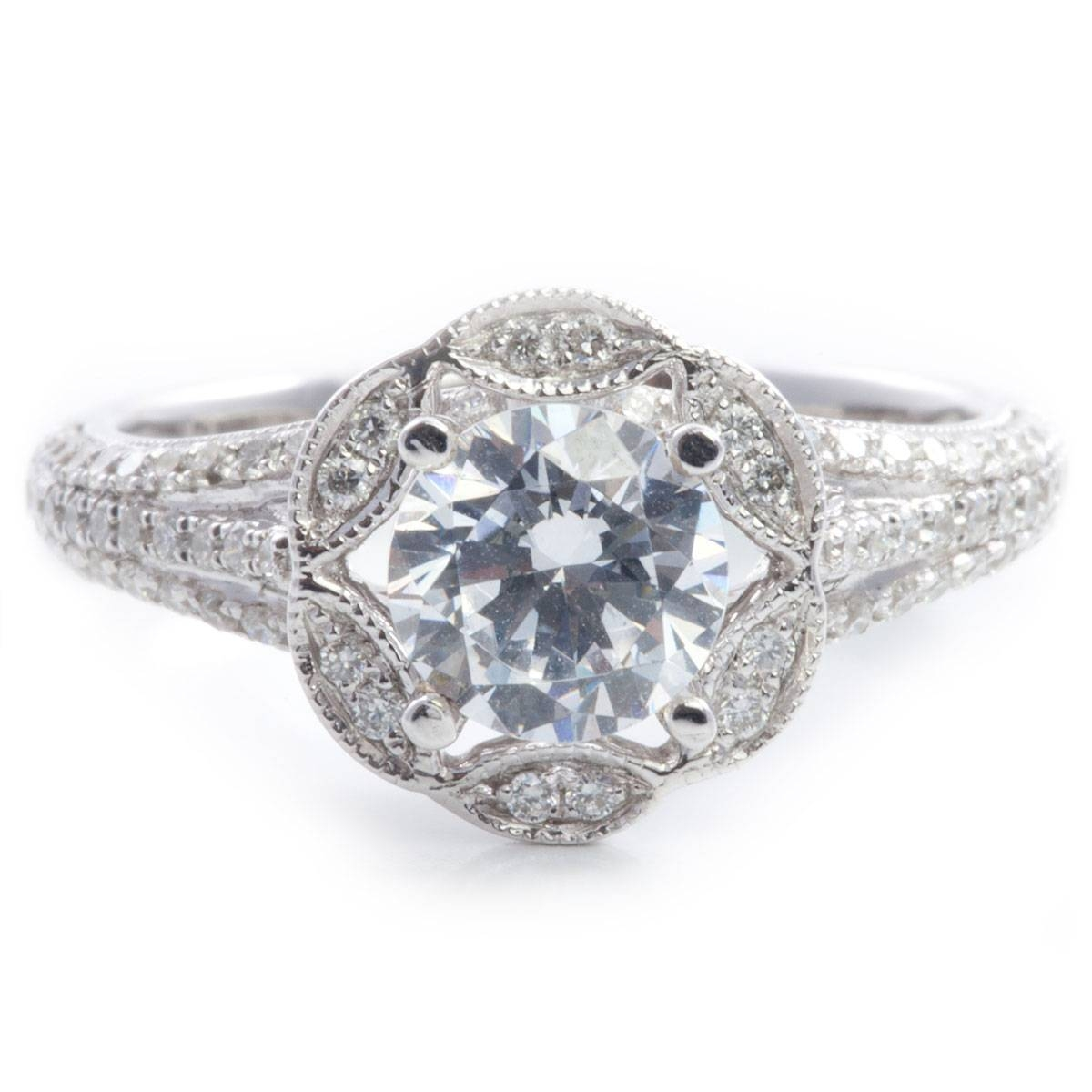 Antique Round Diamond Engagement Rings | Diamondstud Intended For Round Antique Engagement Rings (View 5 of 15)