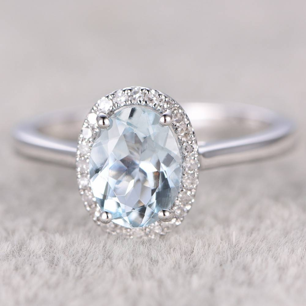 Aquamarine Engagement Rings Rose Gold Plain Gold,aquamarine In Diamond Aquamarine Engagement Rings (Gallery 7 of 15)