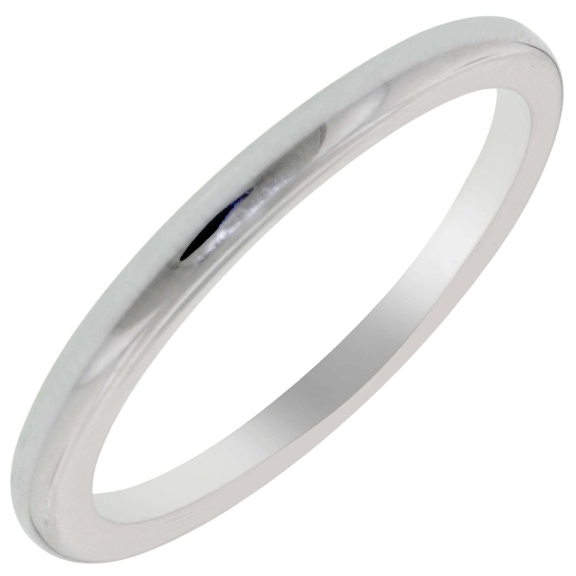 Artcarved Lindsey Plain Wedding Band In 14Kt White Gold Intended For White Gold Plain Wedding Bands (View 6 of 15)