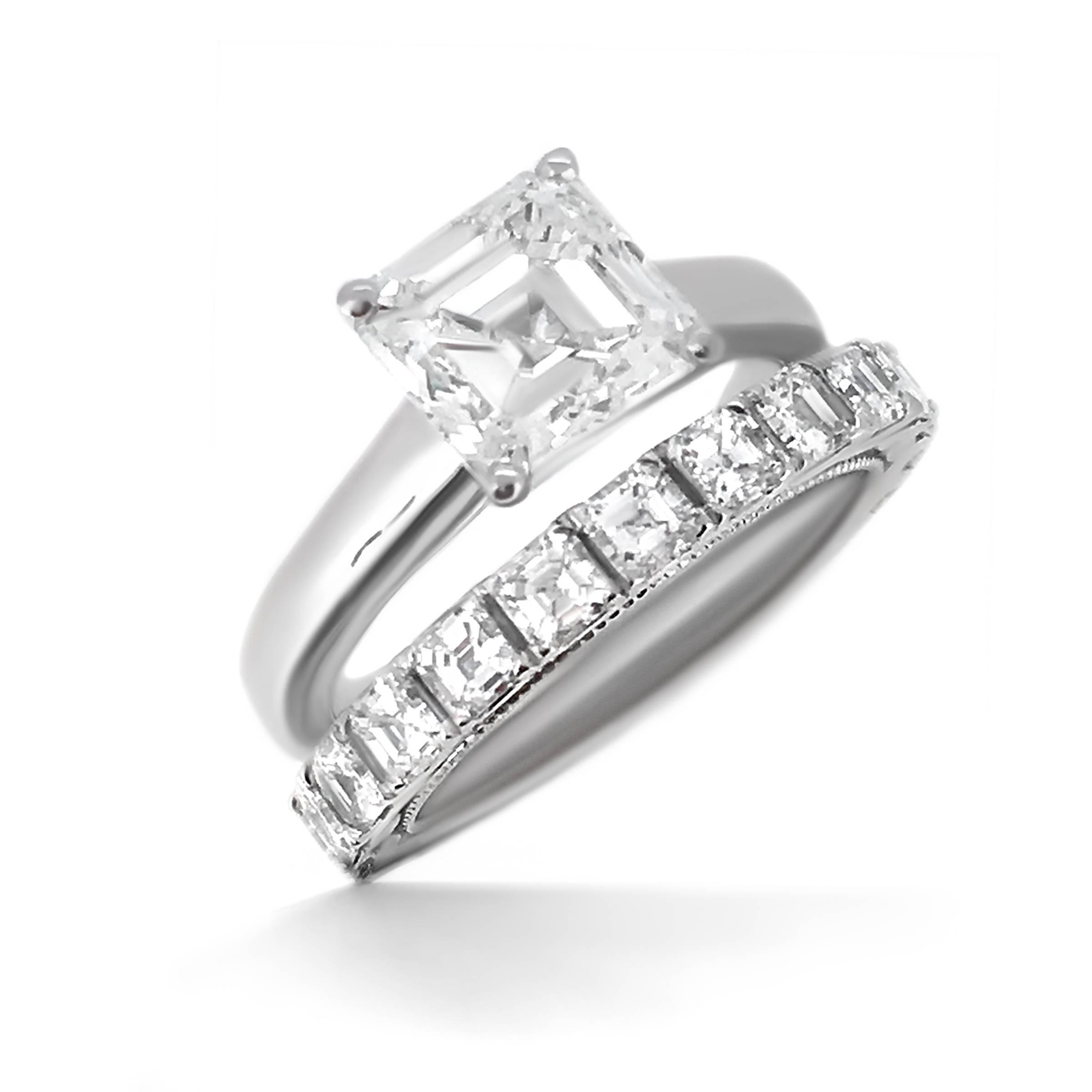 Asscher Cut Diamond Engagement Ring – Haywards – Bespoke Jewellery Regarding Newest Asscher Cut Wedding Bands (View 13 of 15)