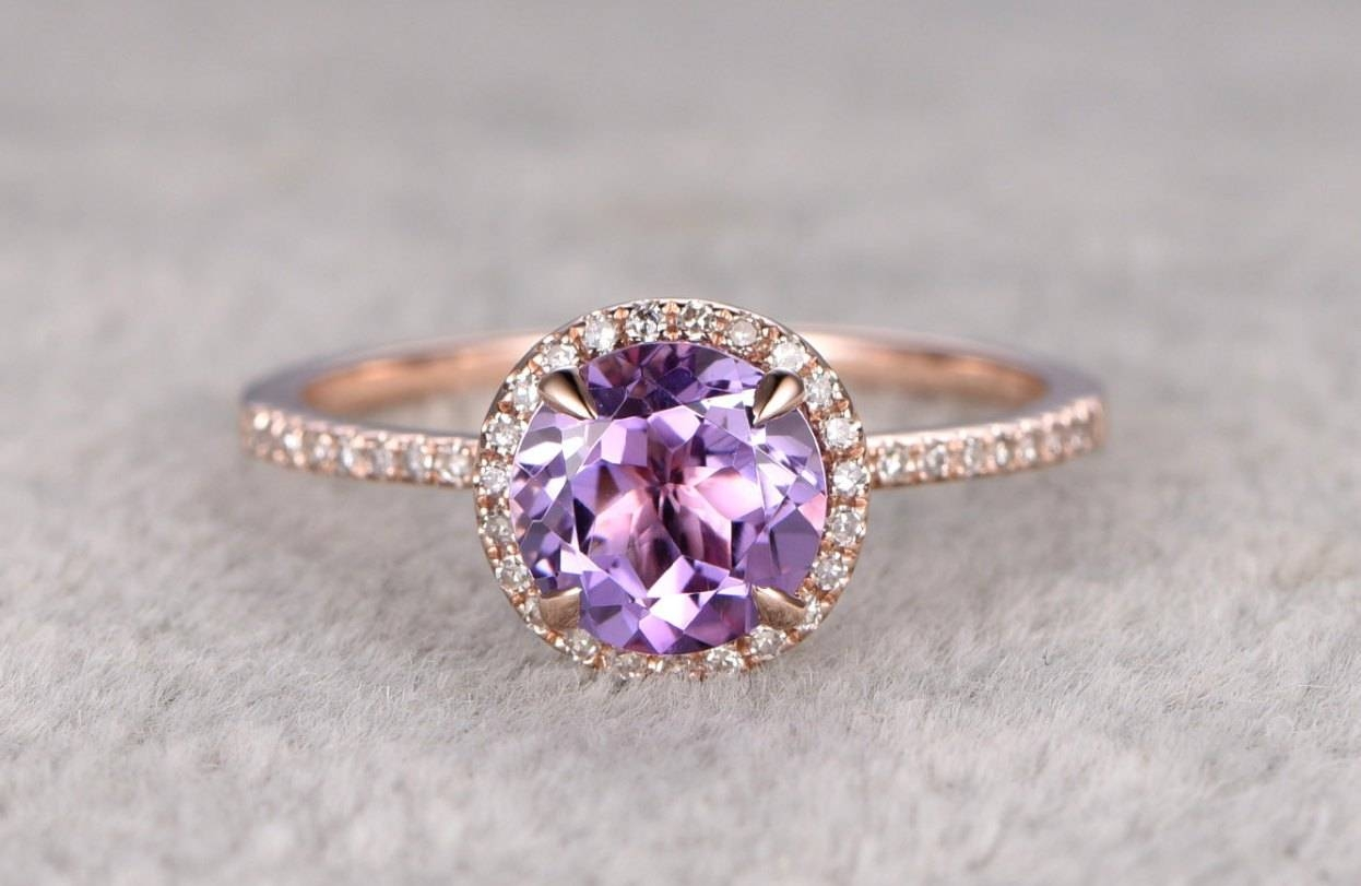 Awesome Wedding Ring Sets With Amethyst Within Wedding Rings With Amethyst (View 13 of 15)