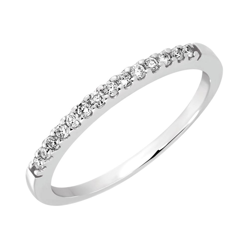 Band With Diamonds In 14ct White Gold Regarding 2017 Diamonds Wedding Bands (View 2 of 15)