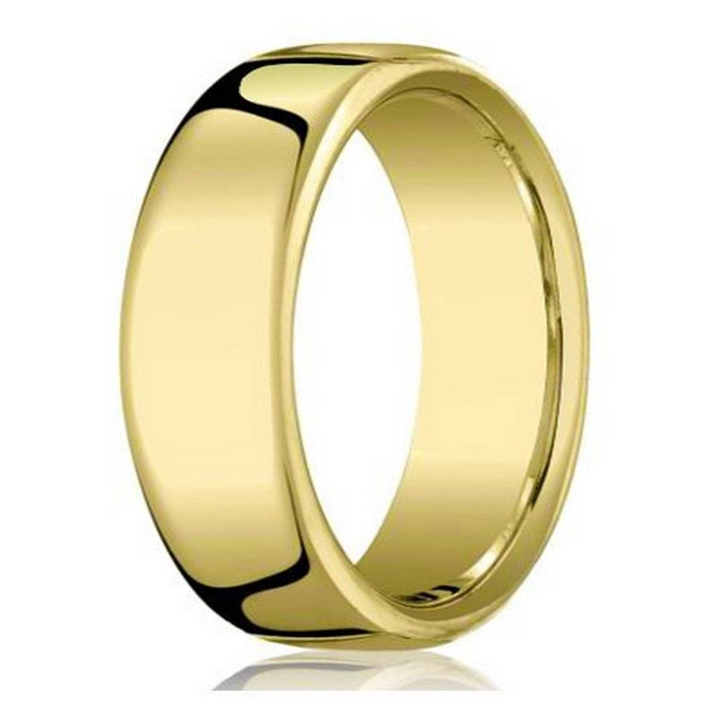 Benchmark 10K Yellow Gold Wedding Band For Men With Heavy Fit In Mens Wedding Bands Comfort Fit (Gallery 13 of 15)