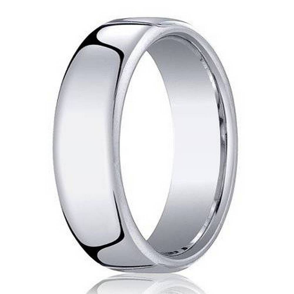 Benchmark Men's Cobalt Chrome Wedding Ring With Euro Heavy Fit Throughout Latest European Wedding Bands (View 5 of 15)
