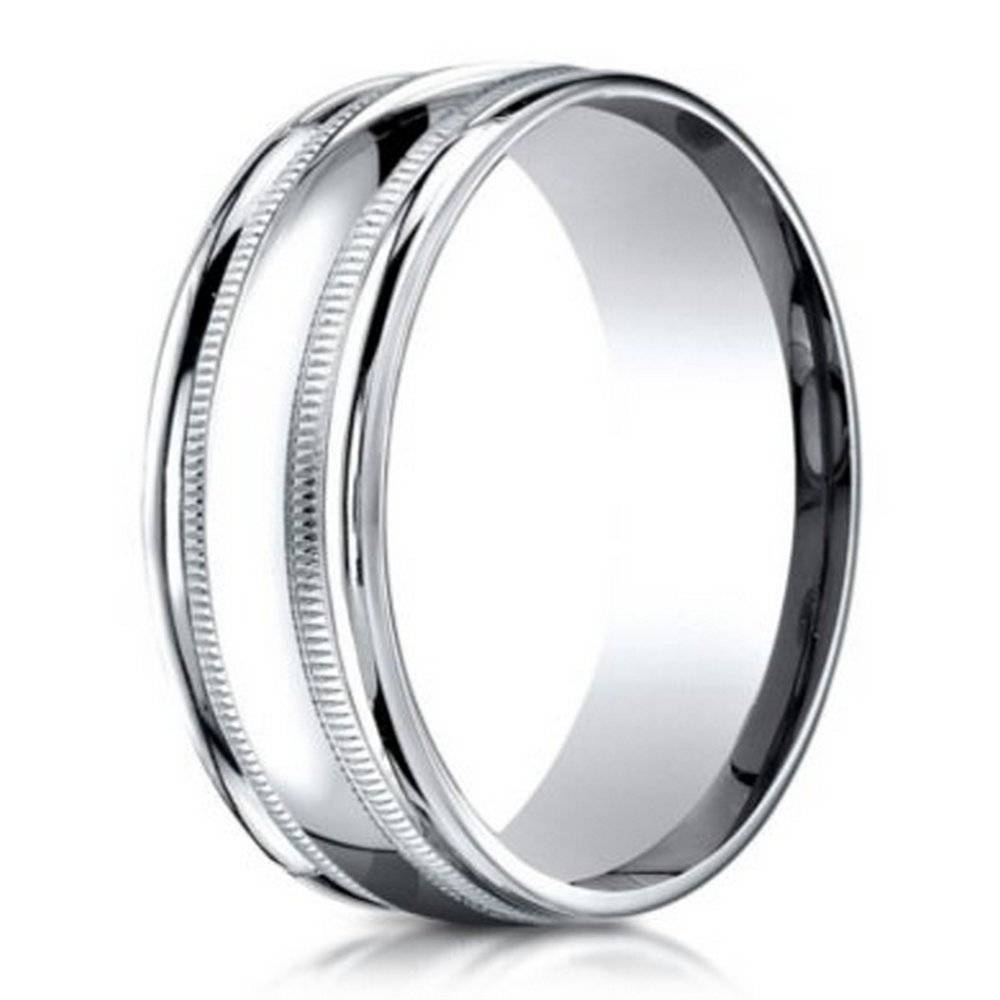 Benchmark Men's Wedding Ring In 950 Platinum With Milgrain, 6Mm In Most Popular Platinum Milgrain Wedding Bands (View 3 of 15)