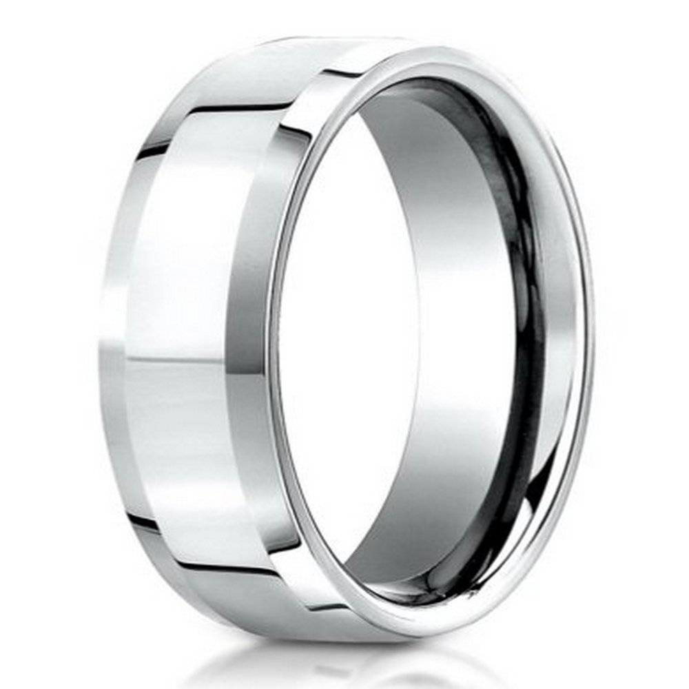 Benchmark Palladium Men's Wedding Band, Polished Bevel Edges, 6Mm With Male Platinum Wedding Rings (View 4 of 15)