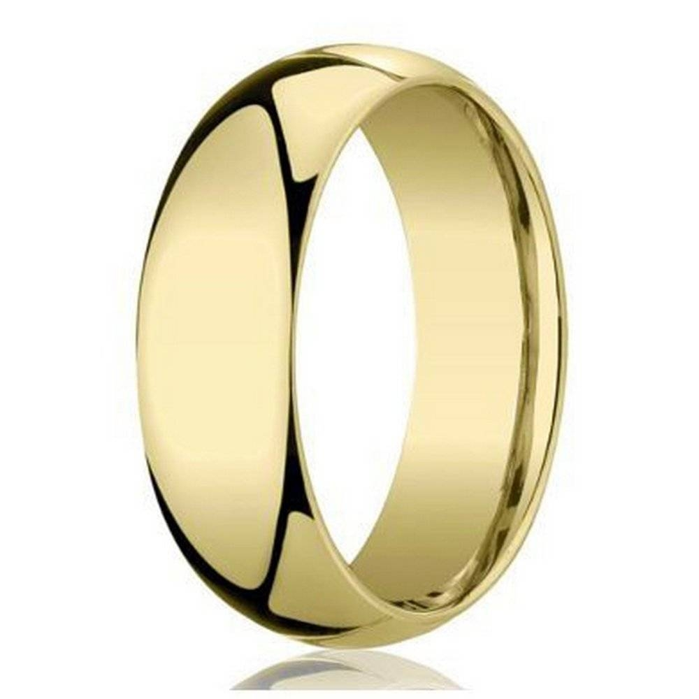 Benchmark Traditional 18K Gold Wedding Band For Men | 6Mm Width Within Most Recently Released 18K Gold Wedding Bands (Gallery 4 of 15)