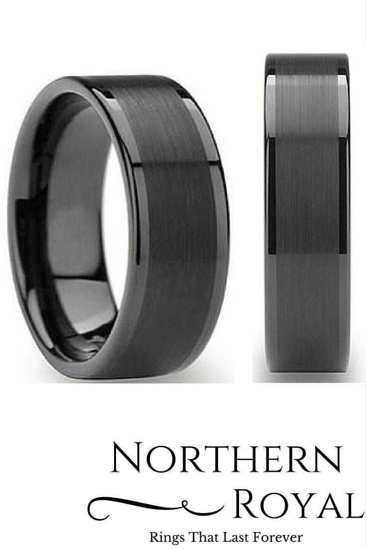 Best 25+ Black Tungsten Wedding Bands Ideas On Pinterest Inside Dark Metal Wedding Bands (View 12 of 15)