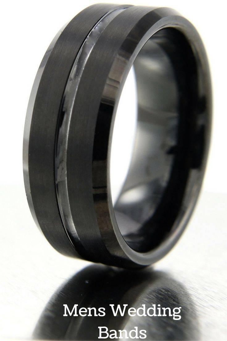 Best 25+ Black Tungsten Wedding Bands Ideas On Pinterest Pertaining To Black Wedding Bands For Men (View 2 of 15)