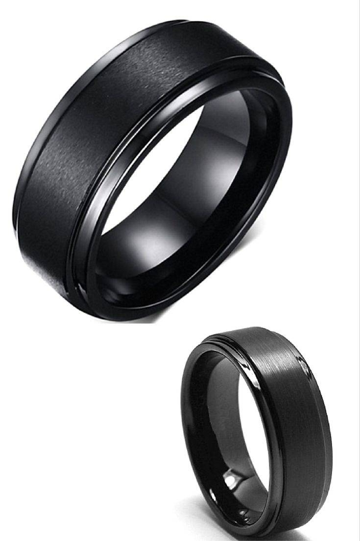 Best 25+ Black Wedding Bands Ideas On Pinterest | Men Wedding Within Black Wedding Bands For Men (View 3 of 15)