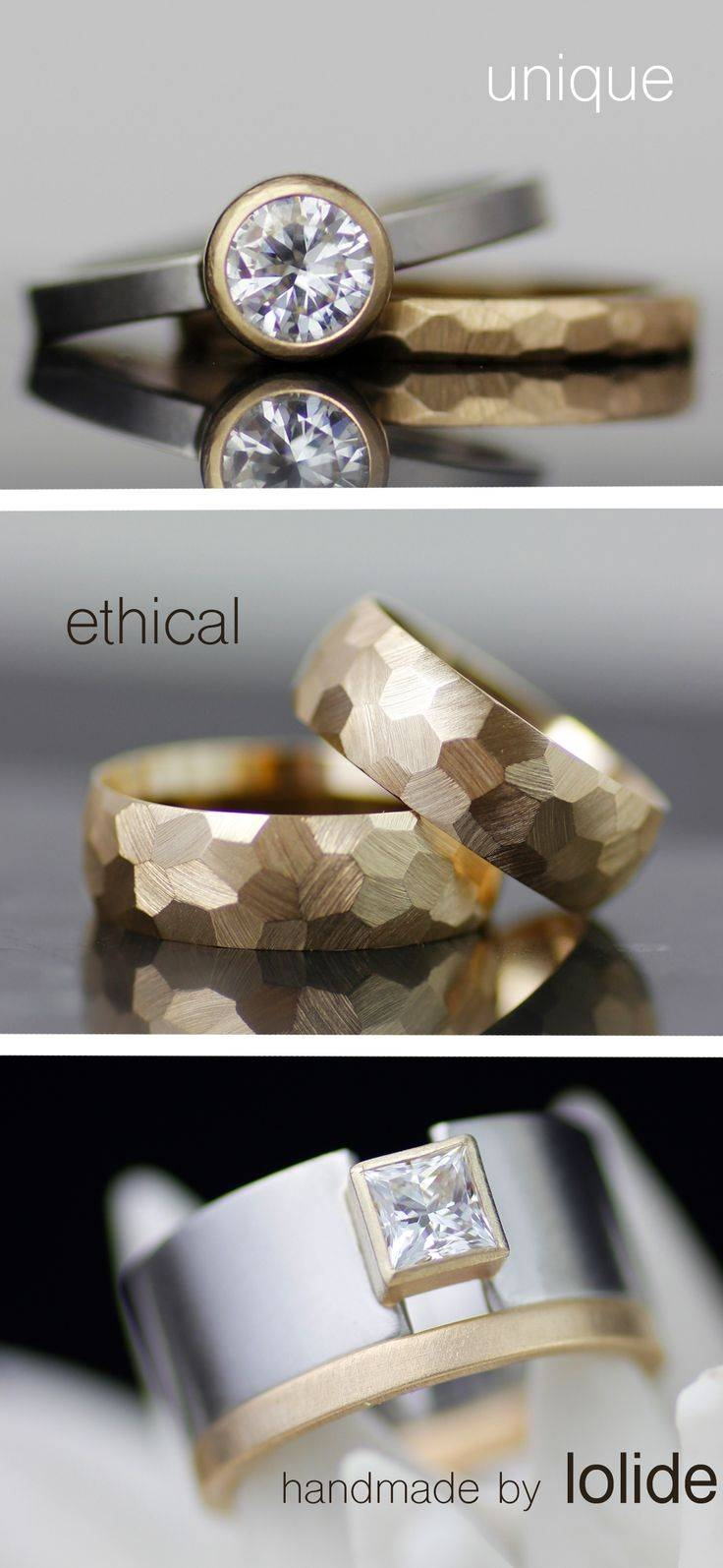 Best 25+ Modern Wedding Rings Ideas On Pinterest | Engagement Intended For Most Recent Horizon Wedding Bands (View 5 of 15)