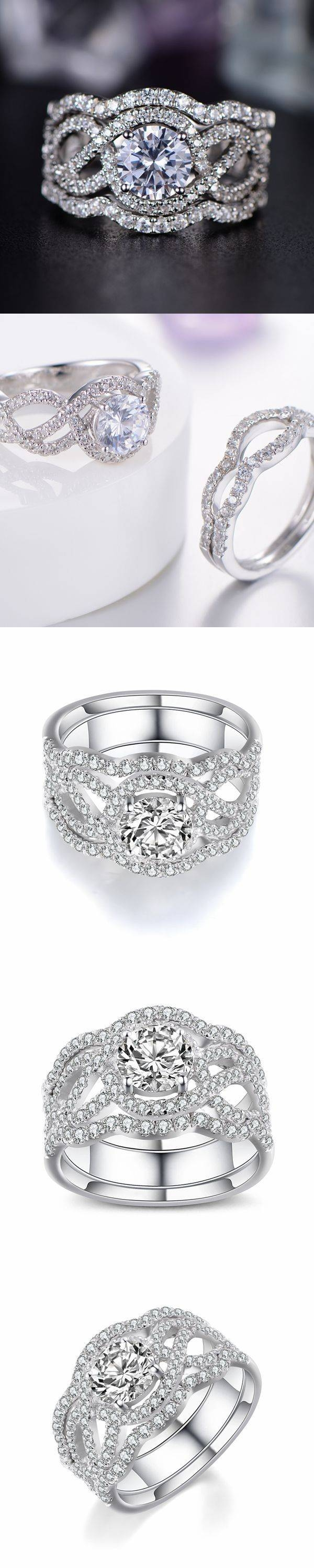 Best 25+ White Sapphire Rings Ideas On Pinterest | White Sapphire Throughout Most Recently Released Horizon Wedding Bands (View 10 of 15)