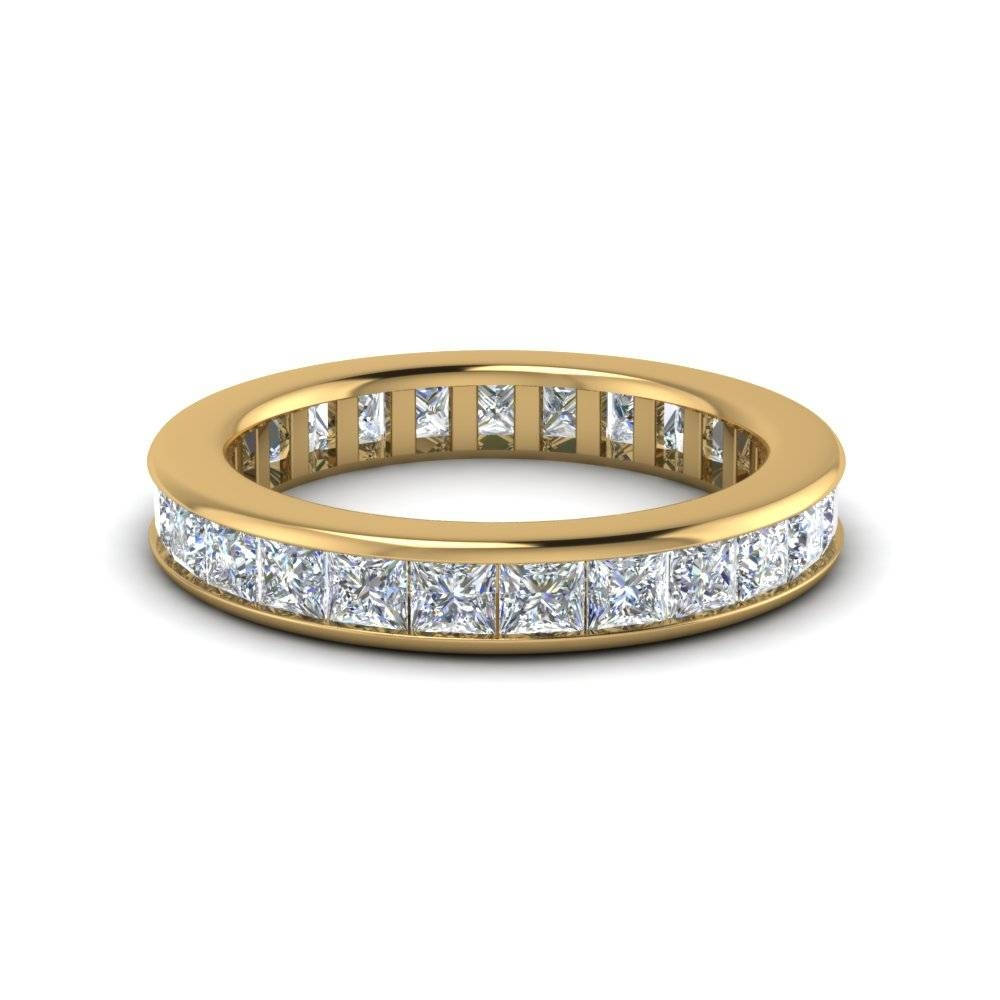 Best Bargains On Yellow Gold Eternity Bands | Fascinating Diamonds Regarding Most Current Yellow Gold Channel Set Wedding Bands (View 13 of 15)