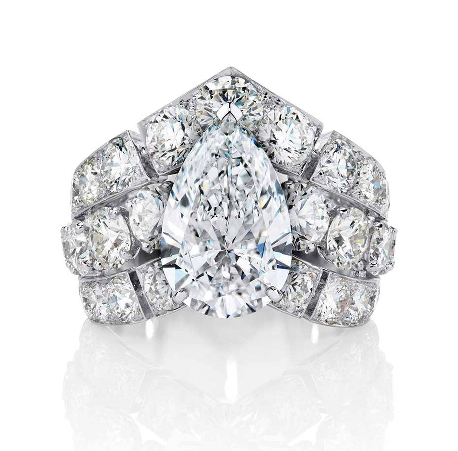 Big Engagement Rings: The Sky's The Limit With These Incredible Inside Big Diamond Engagement Rings (Gallery 7 of 15)