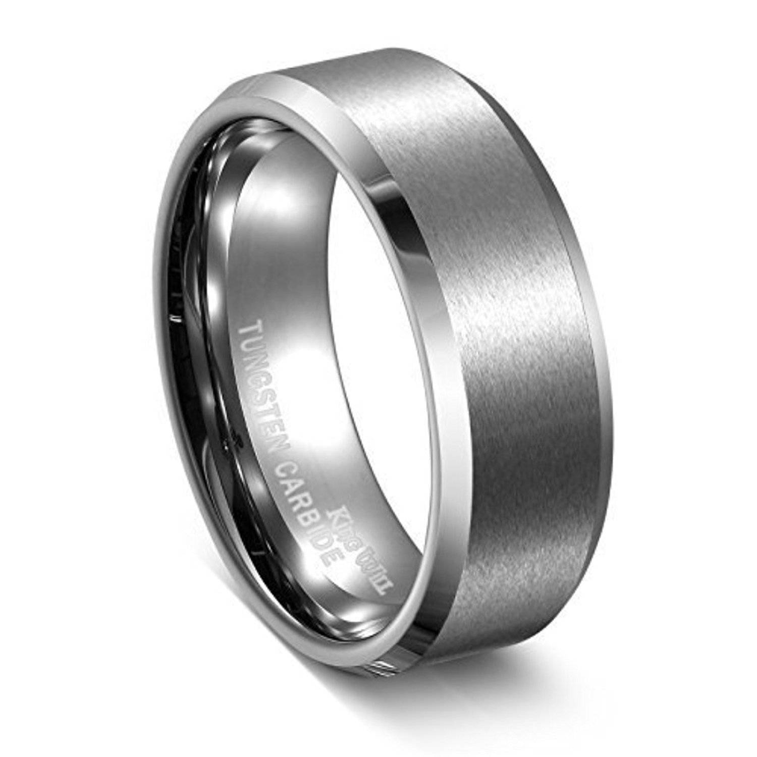Black Carbide Wedding Bands Tags : Unique Tungsten Wedding Rings Pertaining To Tungsten Carbide Womens Wedding Rings (View 4 of 15)