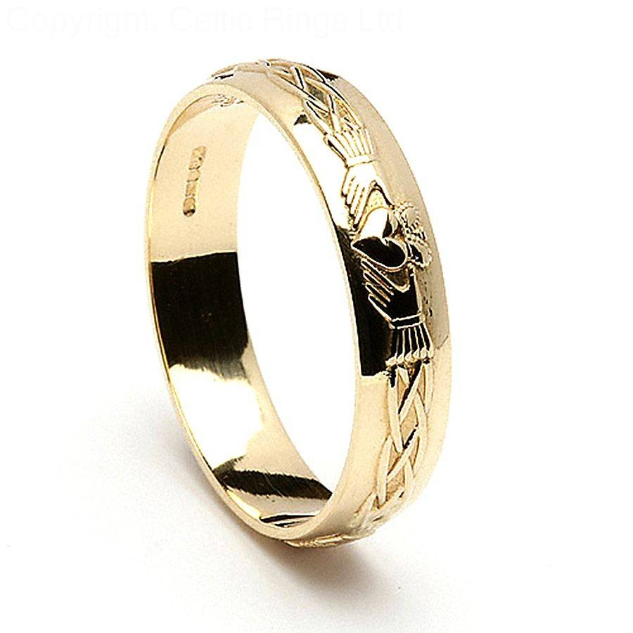 Black Claddagh Ring Tags : Claddagh Mens Wedding Ring Gold For Mens White Gold Claddagh Wedding Bands (View 5 of 15)