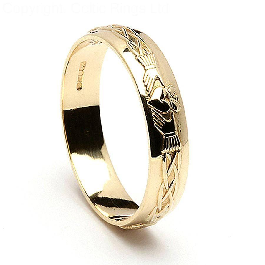 Black Claddagh Ring Tags : Claddagh Mens Wedding Ring Gold For Mens White Gold Claddagh Wedding Bands (Gallery 5 of 15)