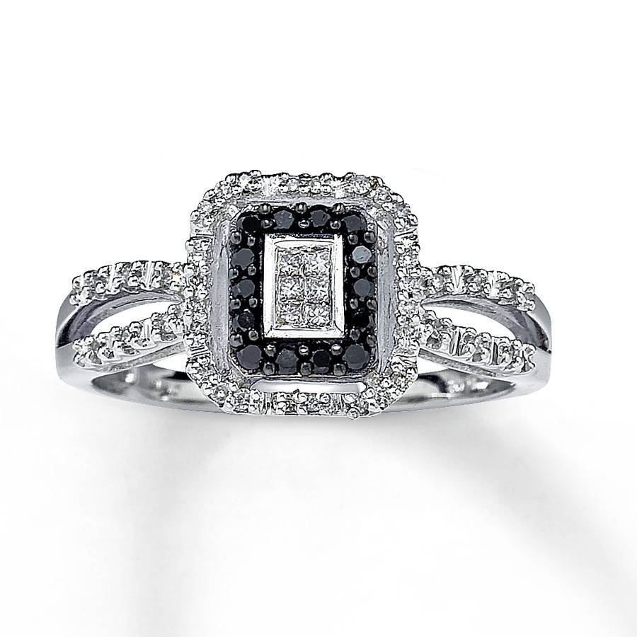 Black Diamond Rings | Wedding, Promise, Diamond, Engagement Rings Pertaining To 14K Black Gold Princess Diamond Engagement Rings (View 6 of 15)