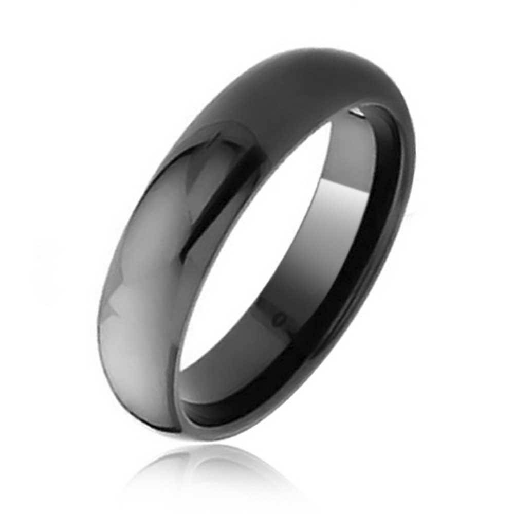 Black Tungsten Dome Wedding Band Ring 6Mm Inside Black Tungsten Wedding Bands (View 5 of 15)