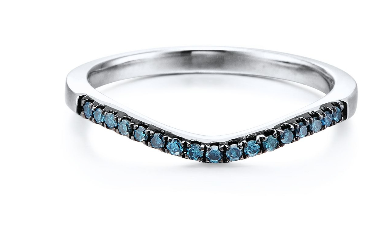 Blue Diamond Wedding Band?? – Weddingbee Within Colored Diamond Wedding Bands (View 3 of 15)