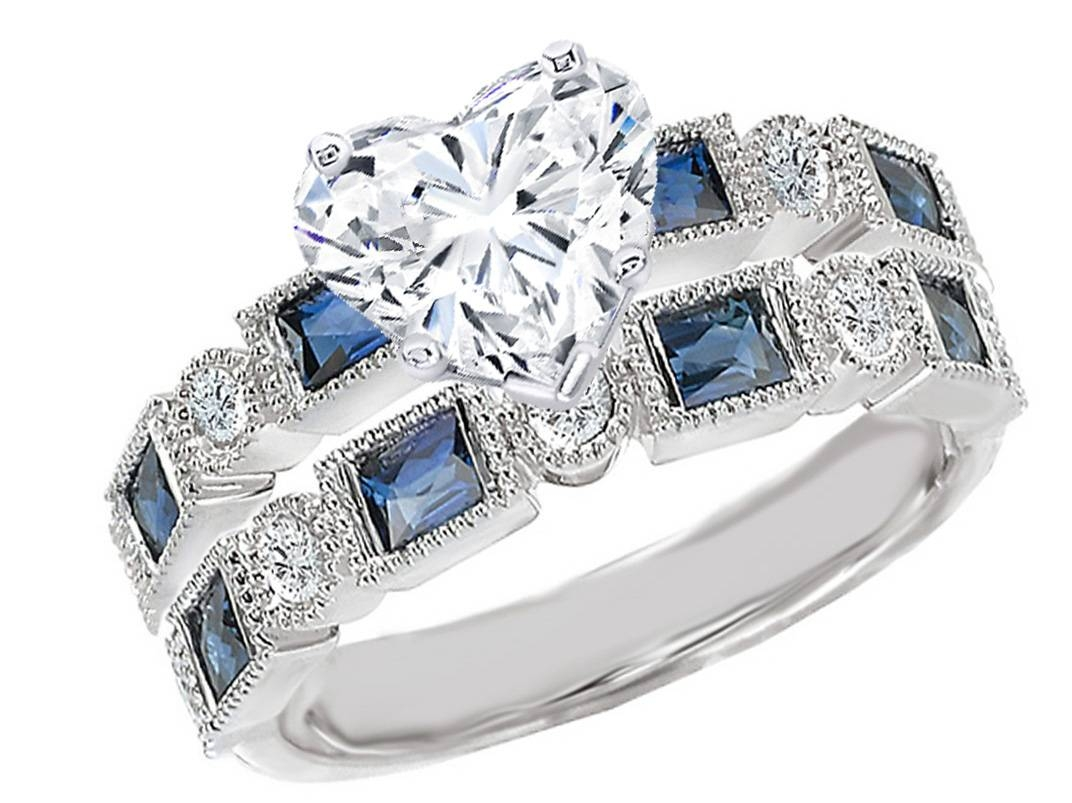 Blue Sapphire – Engagement Rings From Mdc Diamonds Nyc Pertaining To Blue Heart Engagement Rings (View 13 of 15)