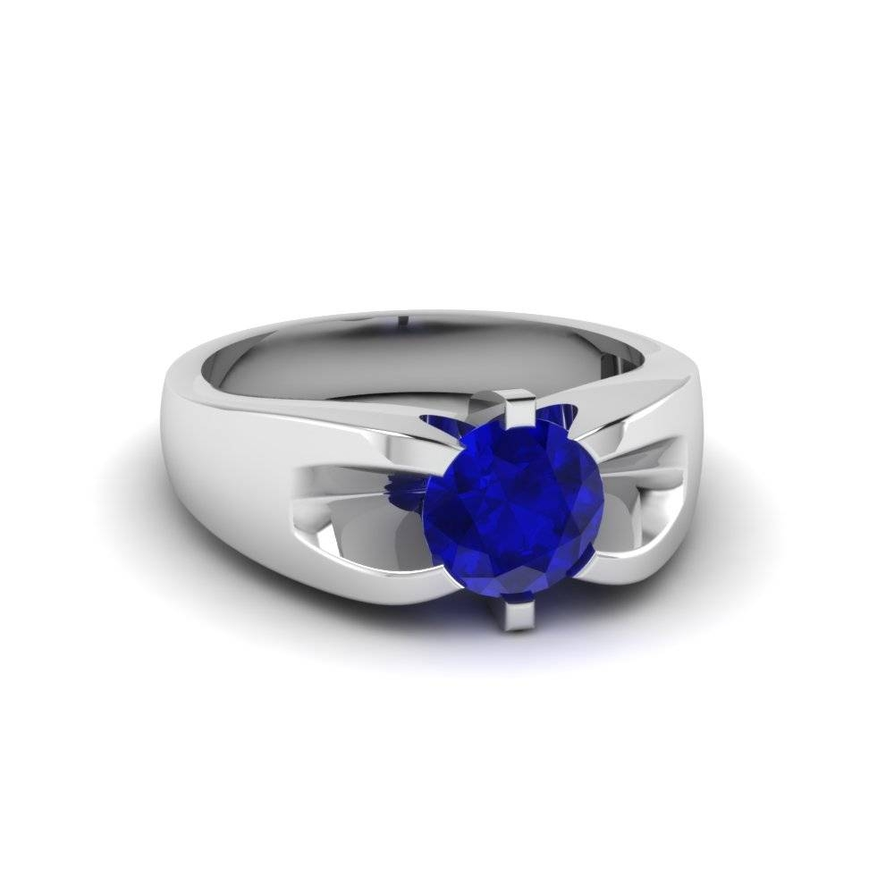 Blue Sapphire Tags : Diamond Engagement Ring With Sapphire Wedding Intended For Blue Sapphire Wedding Bands (View 4 of 15)