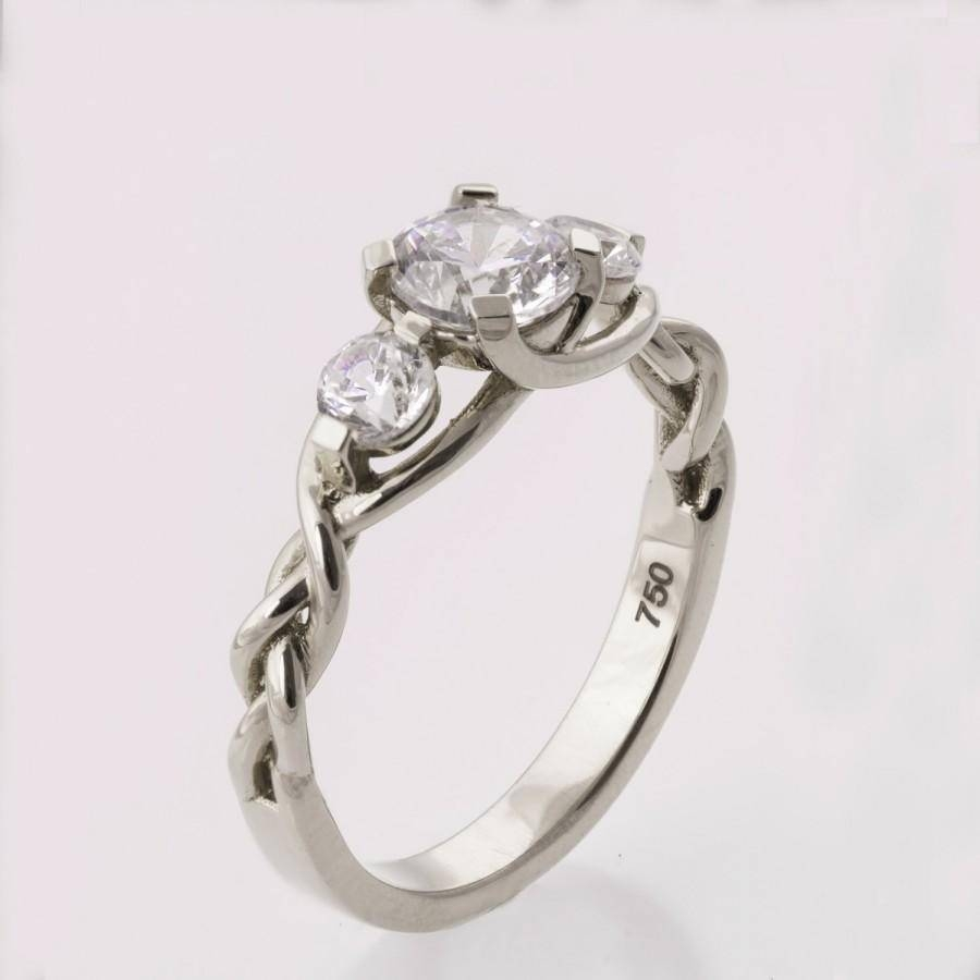 Braided Platinum Engagement Ring No.7 – Platinum And Diamond Throughout 7 Diamond Engagement Rings (Gallery 8 of 15)