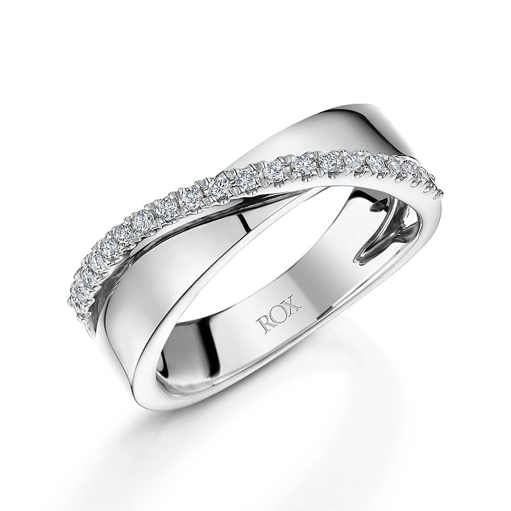 Brilliant Diamond Crossover Ring  (View 5 of 15)