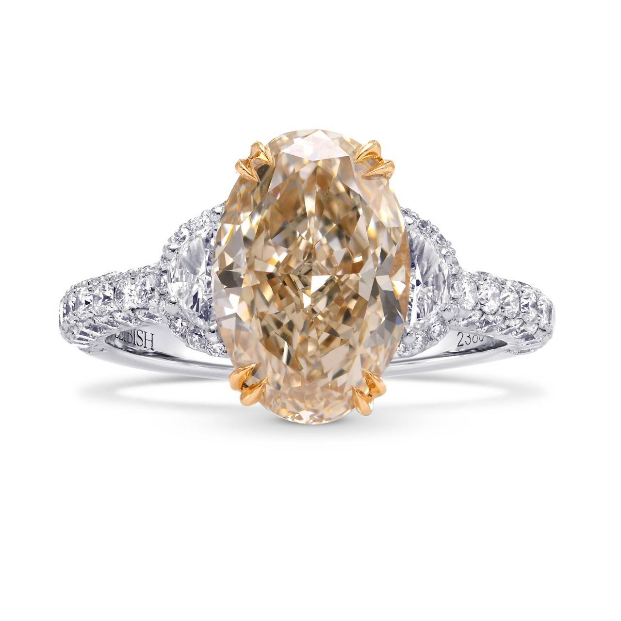 Brown & Champagne Diamond Engagement Rings | Leibish Within Colorful Diamond Engagement Rings (View 4 of 15)