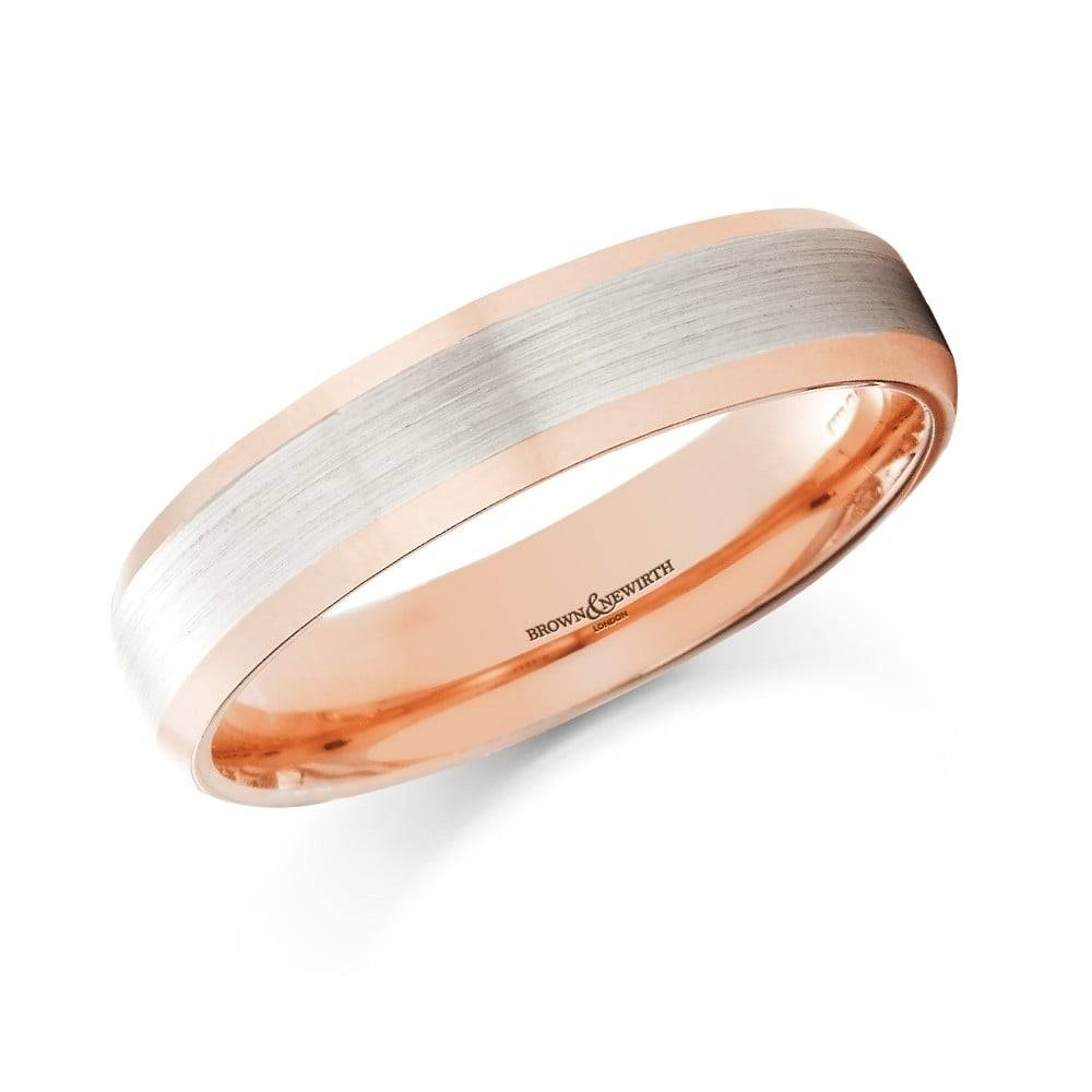Brown & Newirth 7137 18Ct Rose Gold & Palladium Wedding Ring, 5Mm In Most Recently Released 5Mm Palladium Wedding Bands (View 3 of 15)