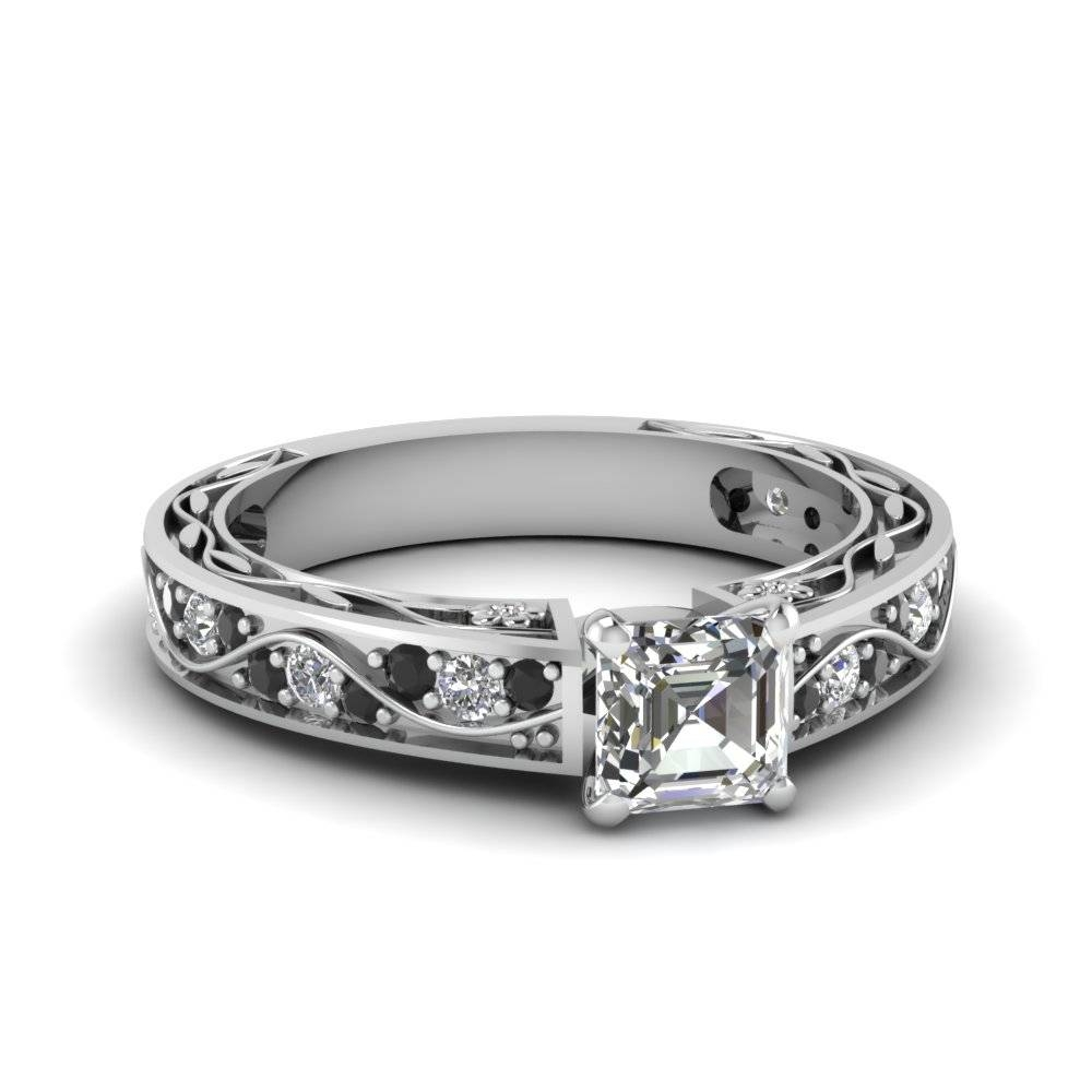 Buy Classy Black Diamond Engagement Rings Online | Fascinating With Regard To Buy Diamond Engagement Rings Online (Gallery 1 of 15)
