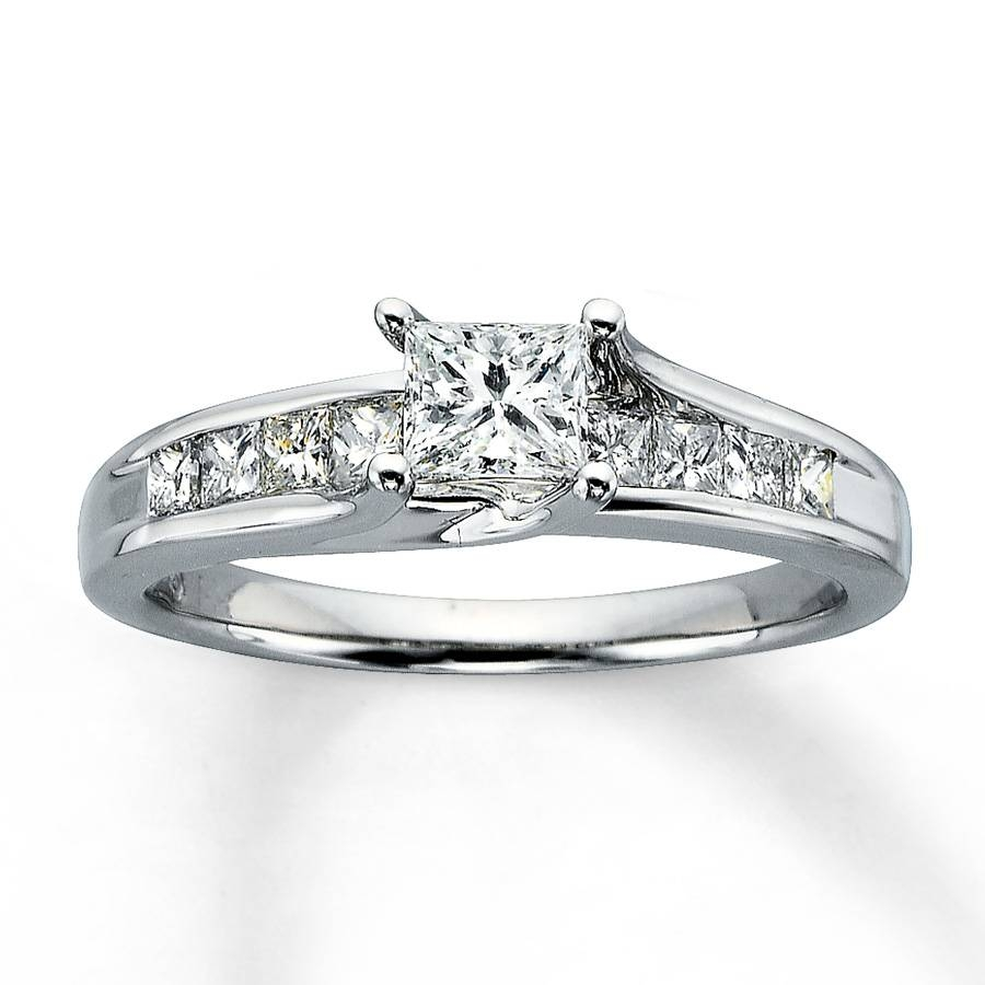 Buy Online Princess Cut Engagement Rings – Pretty Jewelry Throughout Simple Princess Cut Diamond Engagement Rings (View 4 of 15)