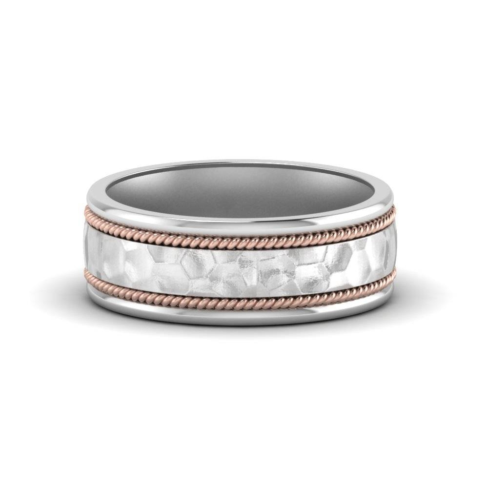 Buy Platinum Wedding Bands For Him And Her|Fascinating Diamonds Intended For Most Popular Platinum Hammered Wedding Bands (View 2 of 15)