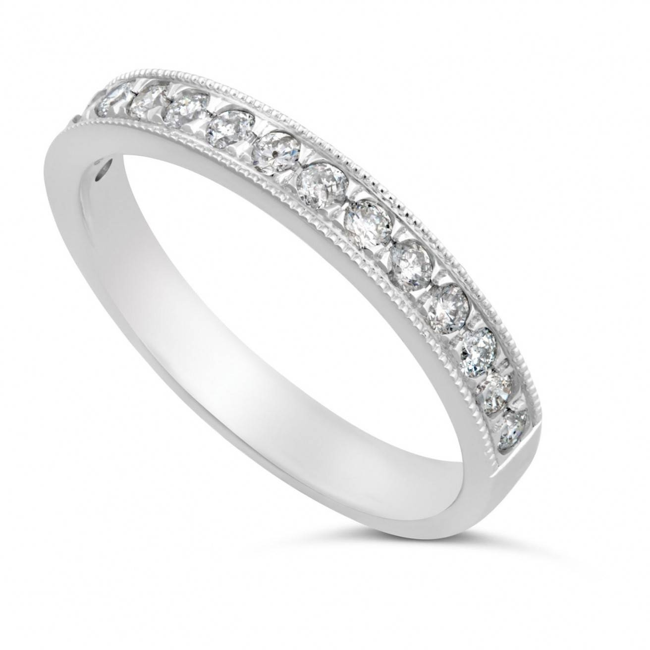 Buy White Gold Wedding Rings Online – Fraser Hart Pertaining To Ladies White Gold Diamond Wedding Bands (View 5 of 15)