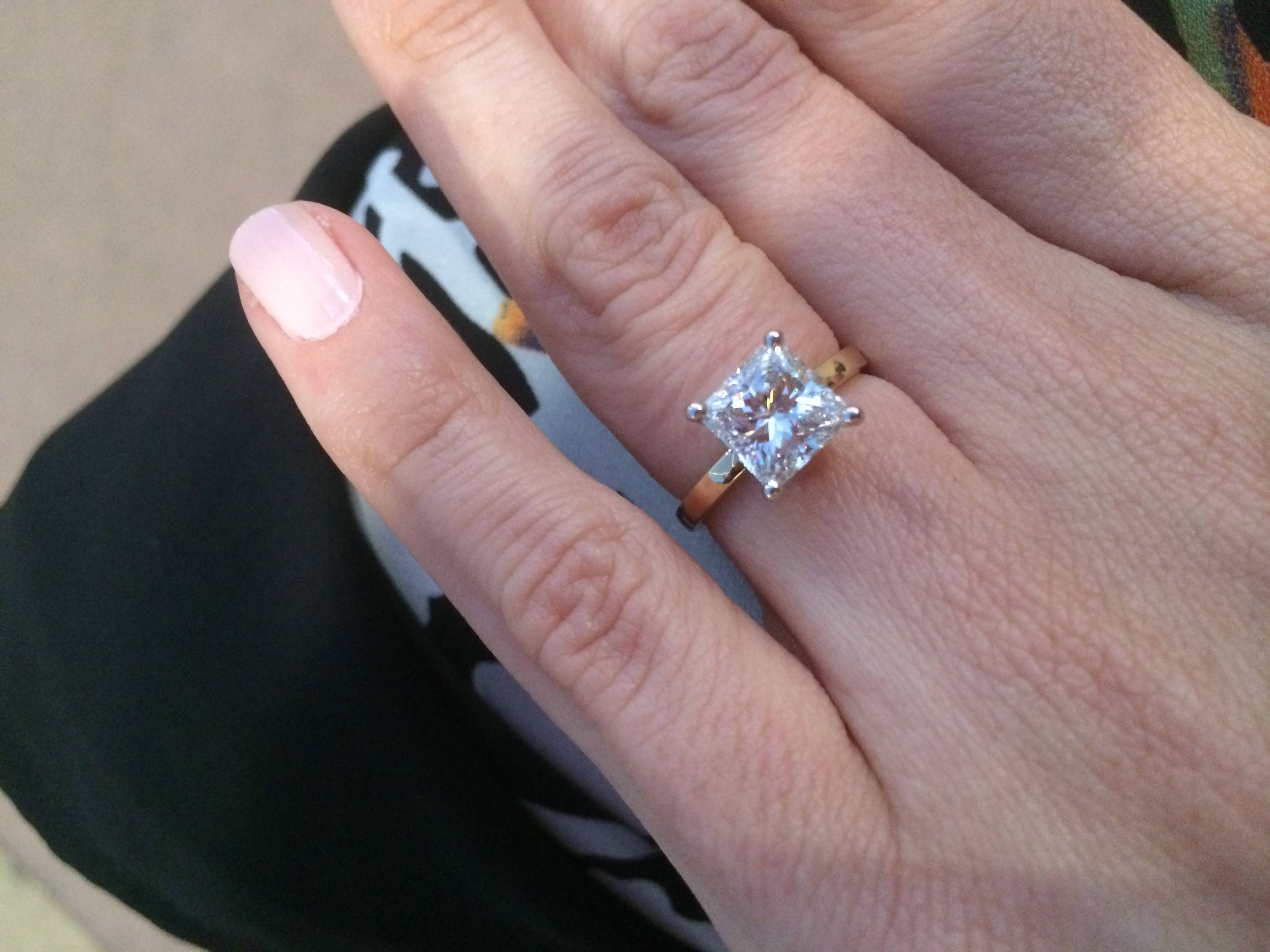 Can I See Your Princess Cut E Ring, Please? – Weddingbee Within  (View 3 of 15)
