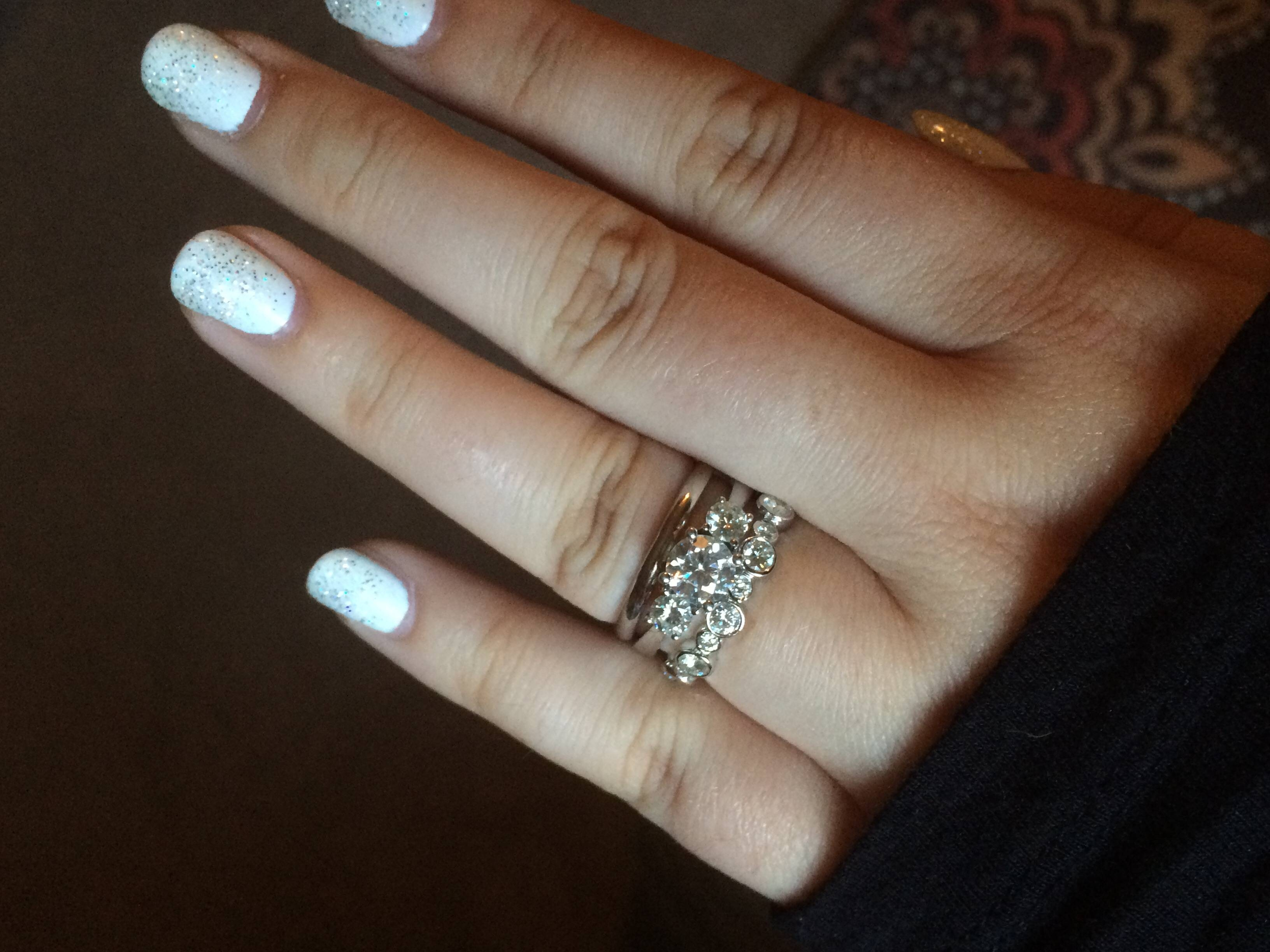 Can I See Your Wedding Band With 3 Stone Engagement Rings With Three Stone Engagement Rings With Wedding Band (View 9 of 15)