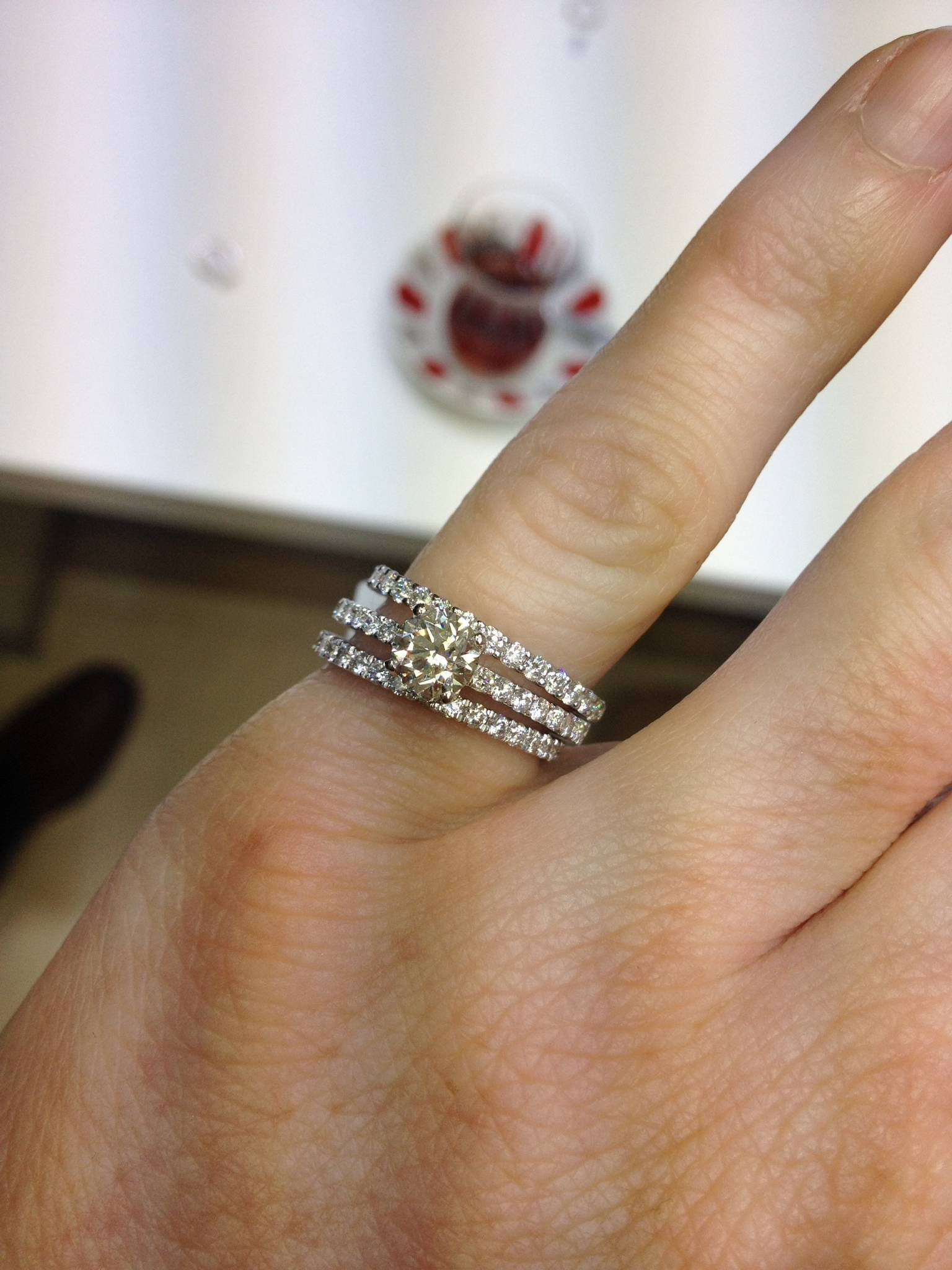 Cant Decide On Wedding Band! Show Me Thin Pave Erings With Intended For Most Recent Eternity Wedding Bands (Gallery 8 of 15)