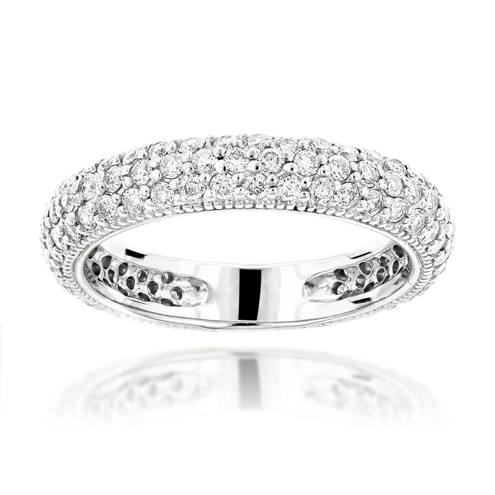 Carat Diamond Wedding Band For Women In 14K Gold With Regard To Recent One Carat Diamond Wedding Bands (View 6 of 15)