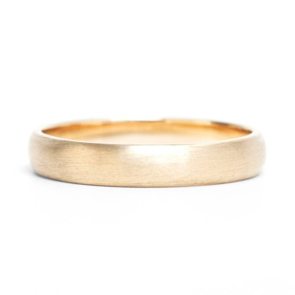Catbird Classic Wedding Bands, Half Round Band, 3Mm – Catbird Pertaining To Current Classic Gold Wedding Bands (View 4 of 15)