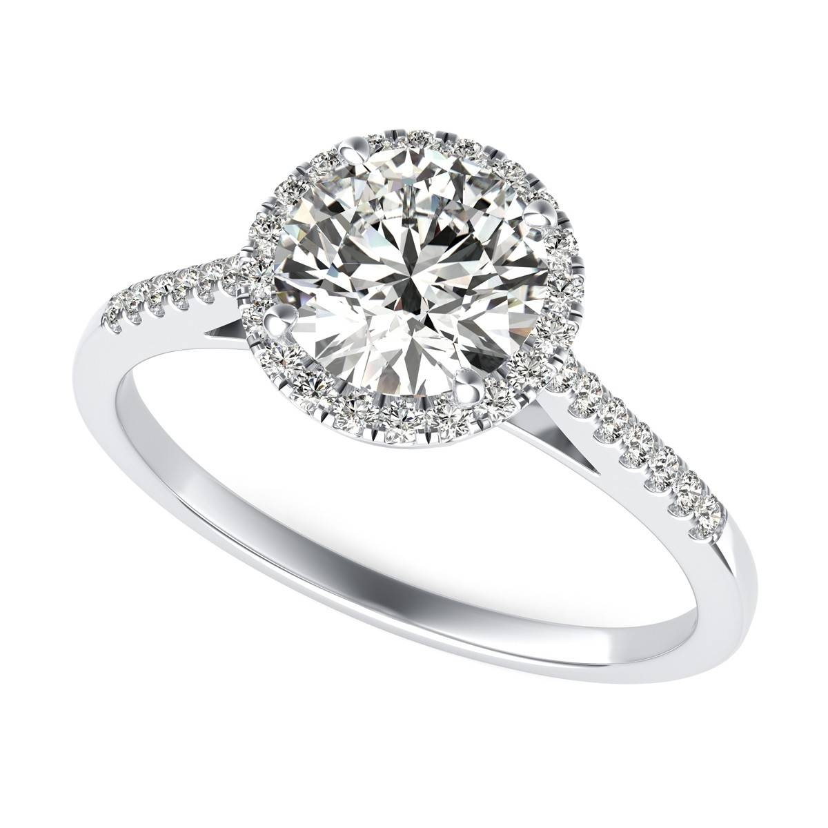 Cathedral Halo Diamond Engagement Ring | Sku: Rd0620 For Round Cut Halo Engagement Rings (Gallery 3 of 15)