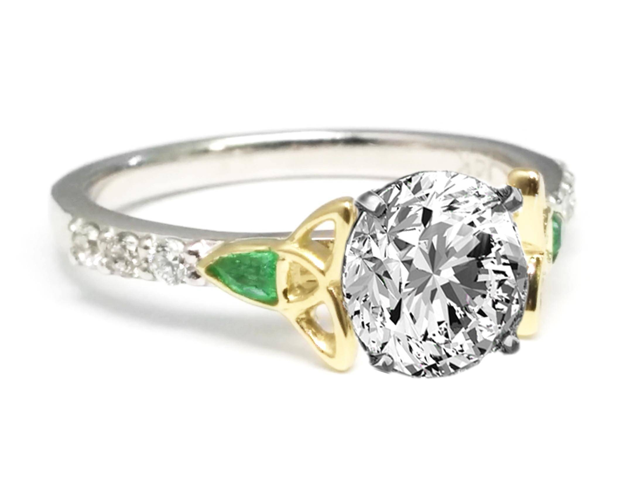 Celtic – Engagement Rings From Mdc Diamonds Nyc Inside Two Tone Bezel Set Engagement Rings (Gallery 12 of 15)